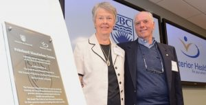 Colin and Lois Pritchard help open the Pritchard Simulation Centre at the Clinical Academic Campus.