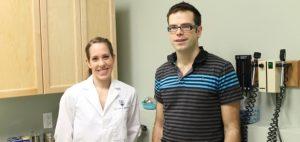 Medical student Alexandra Bond with her preceptor Dr. Joey Podavin