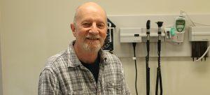 Volunteer Patient Tom Goldie.