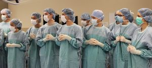 Students from SMP's inaugural class attending a surgical orientation session this past June.