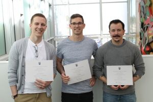 Public Health Category: Top Honours: Henry Gerelle, Aaron Sobkowicz, and Timothy Walters