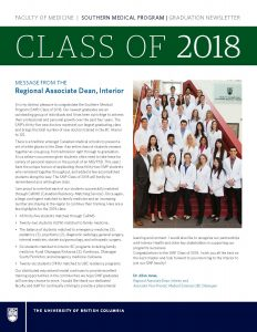 SMP 2018 Graduation Newsletter - Cover